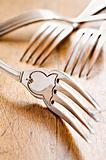 Antique forks at close up - very shallow depth of field