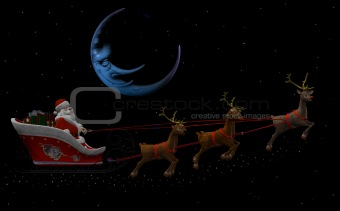 Santa Claus and his Reindeers 2
