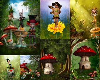 fairytale world collage
