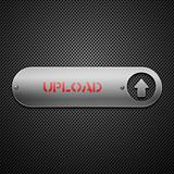 Realistic metallic upload button.