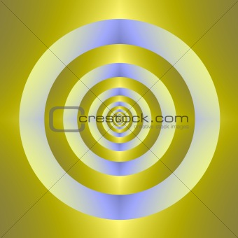 Blue and yellow target