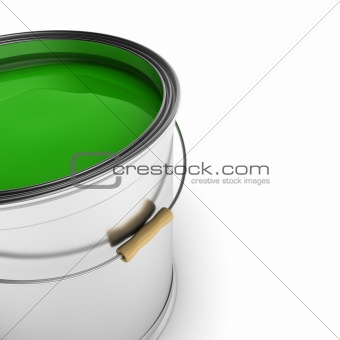 Green paint can