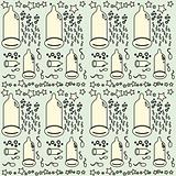 Seamless condom pattern background
