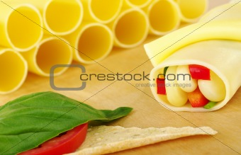 Cannelloni Filled with Vegetables