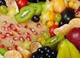 Exotic Fruits on Wooden Board