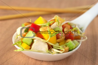 Fresh Asian Salad with Chicken