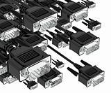 Tech pc input cable connectors.