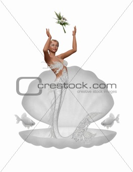 a bride mermaid