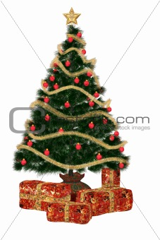 Christmastree with present