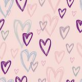 Stylish cartoon love pattern in vector