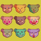 Cartoon seamless pattern made of funny bears