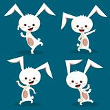 Cute dancing bunny