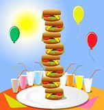 funny hamburgers