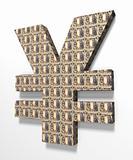 Yen 3D Textured with 1000 yen banknote
