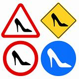 Female Shoe Signs