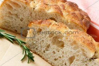Sliced Artisan Focaccia Bread
