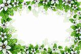 eps10 Flower frame