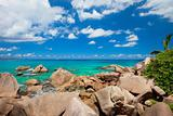 Beautiful rocky coast in Seychelles