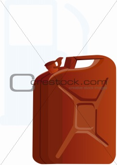 Canister of gasoline