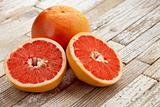 red cut grapefruit