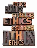 ethics word collage