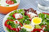 Salad with Yoghurt Dressing