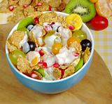 Fruits and Cereals with Joghurt