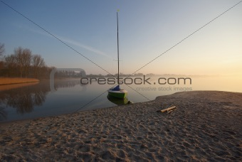Small Boat in Morning Light