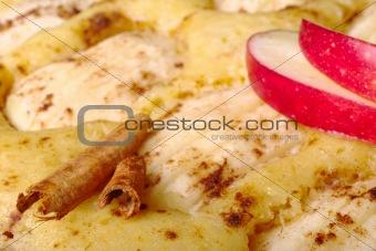 Cinnamon Sticks on Applecake