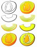 Honeydew melon set
