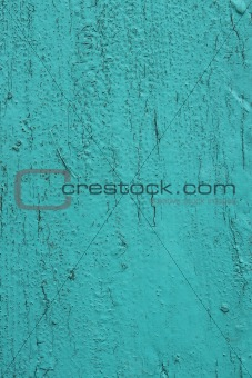 Old wooden turquoise surface