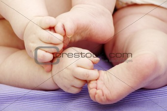 baby feet and hands