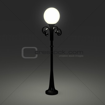 3d of an old street lamppost