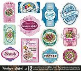 Vintage Labels Collection - Set 12