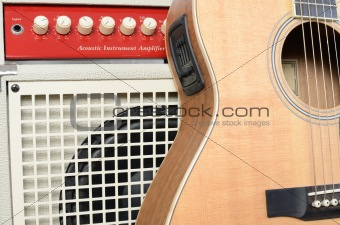 Acoustic Guitar and Amp Abstract