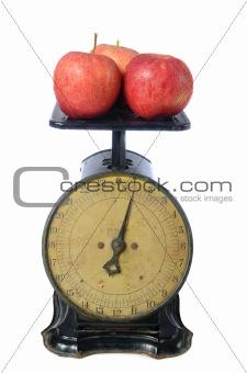 Apples on Vintage Scale