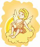 Cute Angel crayon doodle sketch