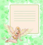 Angel invitation card