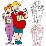 Couple Join Marathon to Lose Weight
