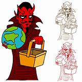 Devil Taking World to Hell in a Hand basket