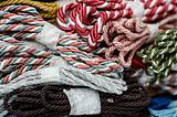 Assorted cords background