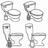 Toilet Commode Set