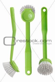 Green toilet brush