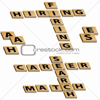 Crossword Hiring Firing Career Search Match