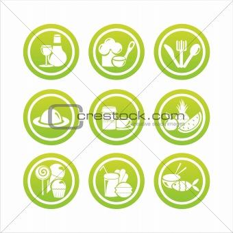 green restaurant signs