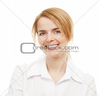 Business women on white background