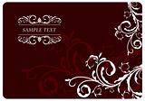 Illustration the floral red background for design card