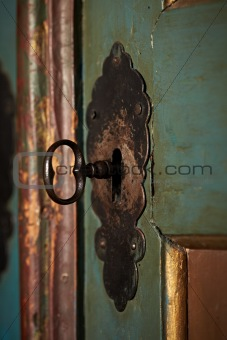 antique door lock