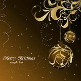 elegant christmas floral background