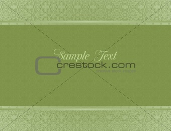 Green background for design of cards and invitation